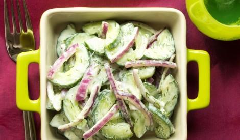 Gurķu salāti ar mērci
