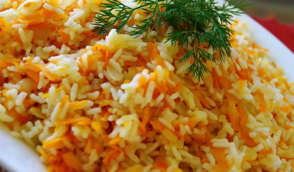 Rīsi ar burkāniem (apcepti)