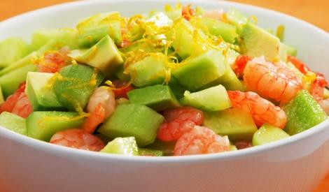 Svaigie salāti ar garnelēm
