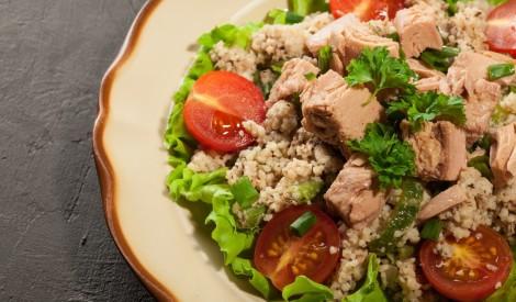 Kuskusa - tunča salāti