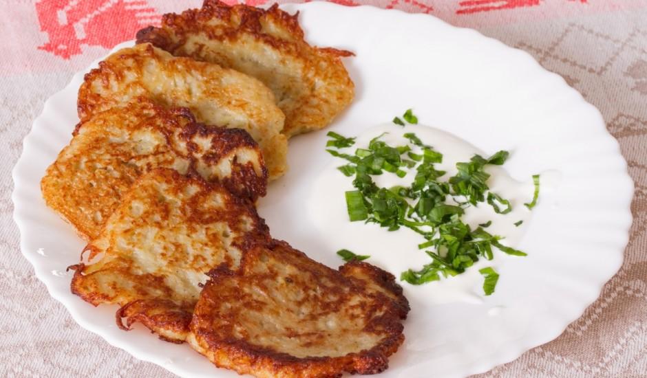 Kraukšķīgās kartupeļu pankūkas
