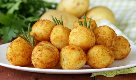 Kartupeļu bumbulīši eļļā