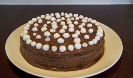 Rupjmaizes torte ar kakao