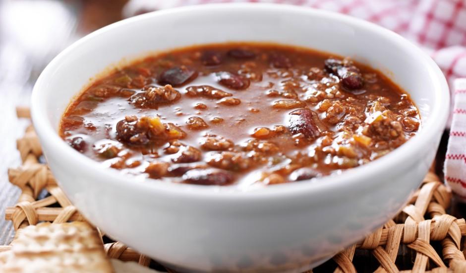 Pupiņu zupa ar malto gaļu