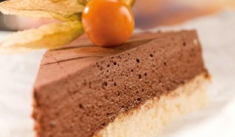 Aukstā putukrējuma - piena šokolādes tarte