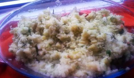 Kartupeļu salāti ar eļļu un sīpoliem