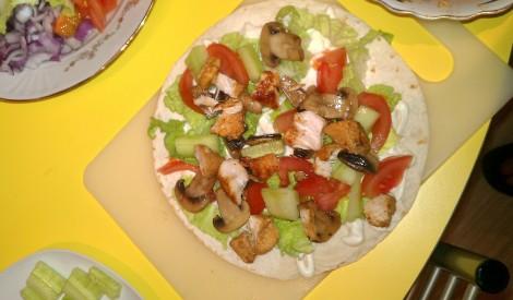 Vistas tortiljas ar dārzeņiem