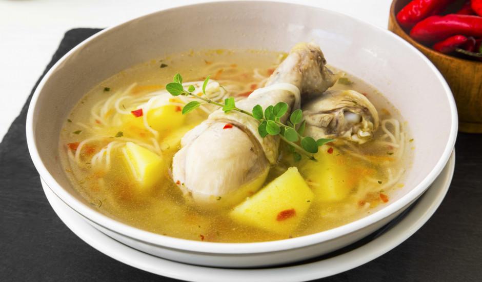 Vistas zupa ar makaroniem