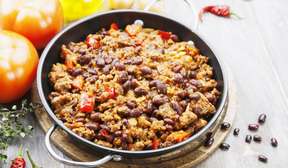 Pupiņu un maltās gaļas sautējums