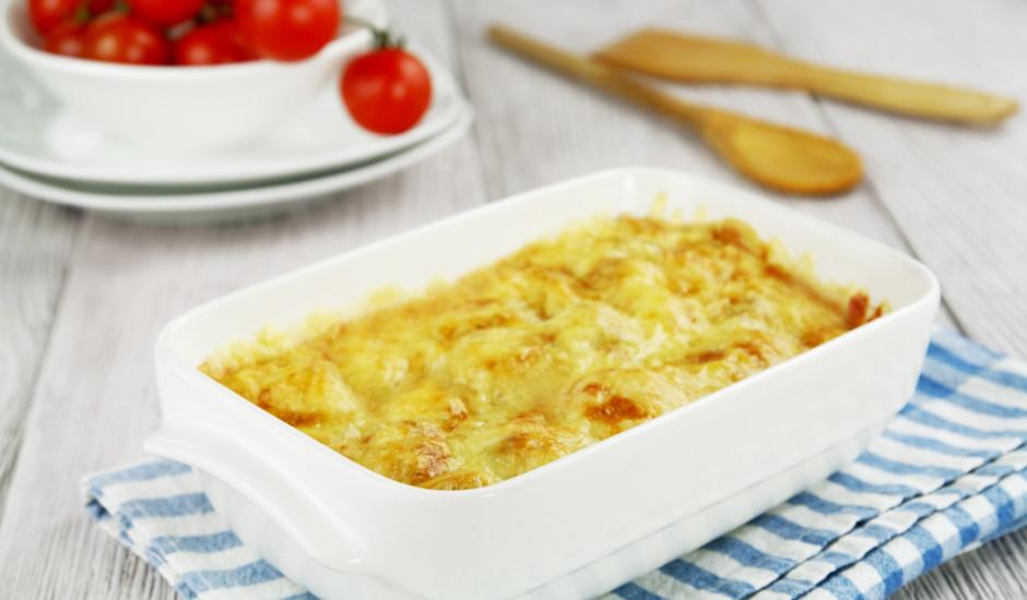 Kartupeļu un siera sacepums