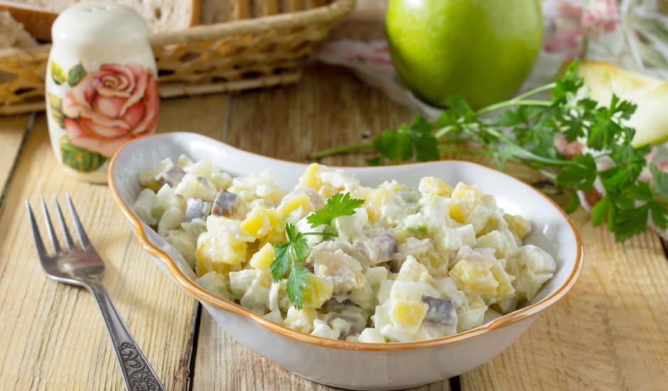 Siļķu - kartupeļu salāti
