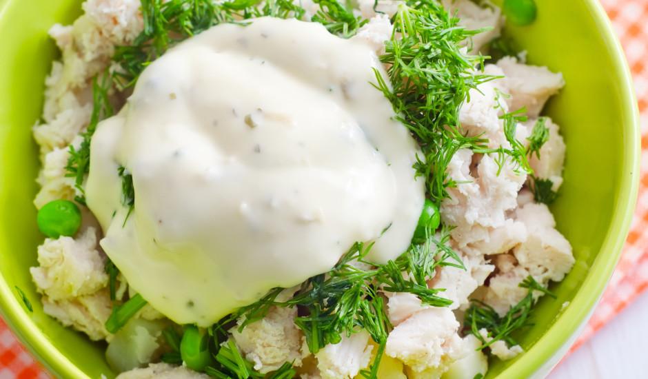 Kartupeļu - vistas salāti