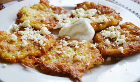 Kartupeļu, siera pankūkas