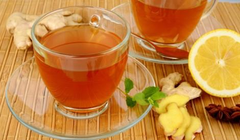 Ingvera tēja ar citronu un medu