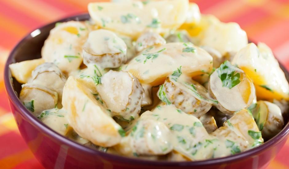 Kartupeļu - gurķu salāti