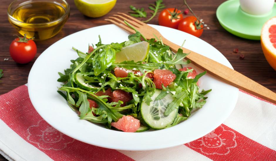 Greipfrūta salātiņi