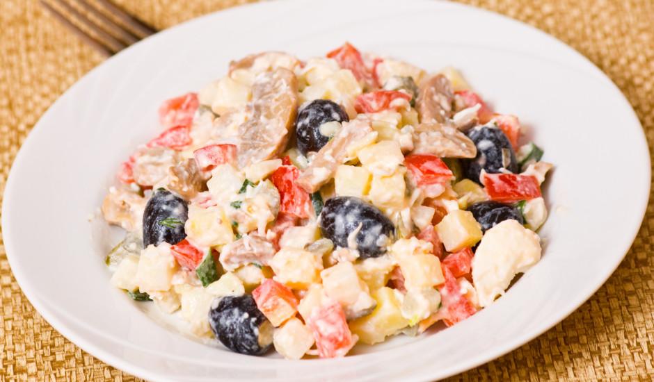 Kartupeļu salāti ar šampinjoniem