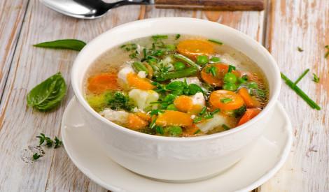 Vistas un dārzeņu zupa