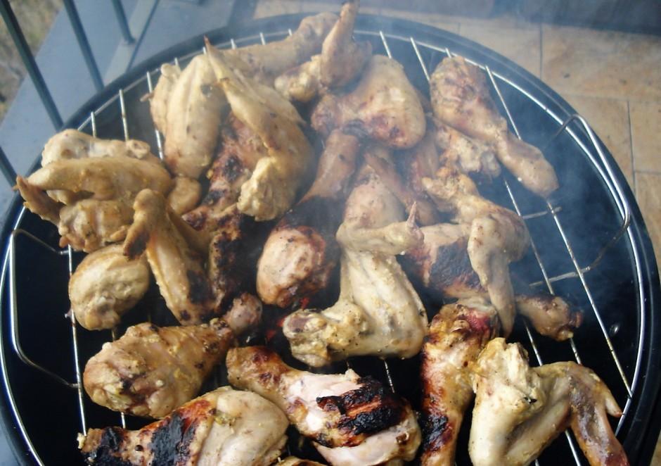 Cep uz grila vidējā karstumā līdz gaļa gatava.  Labu apet...