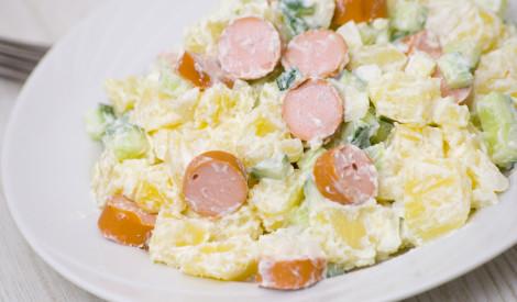 Gardie, ātrie kartupeļu salāti