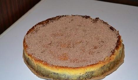 Citrona siera kūka ar šokolādes pamatni