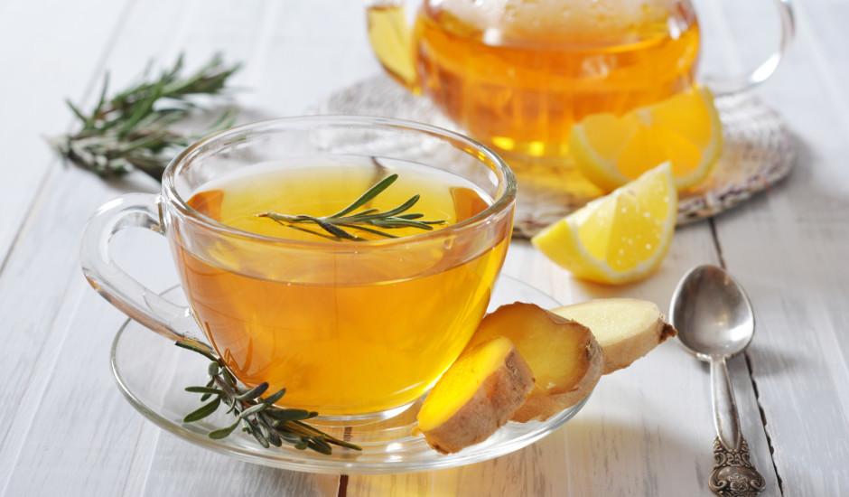 Ingvera tēja ar rozmarīnu