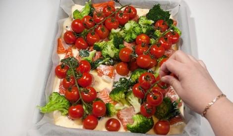 Foreles sacepums ar brokoļiem un sieru