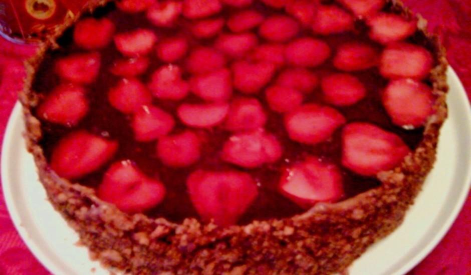Ziemas zemeņu kūka