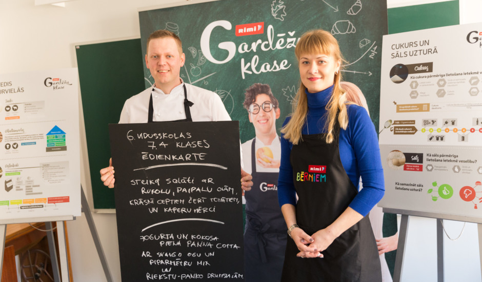 Konkursa Gardēžu klase fināls: Veselības ministre kopā ar skolēniem gatavo veselīgu maltīti
