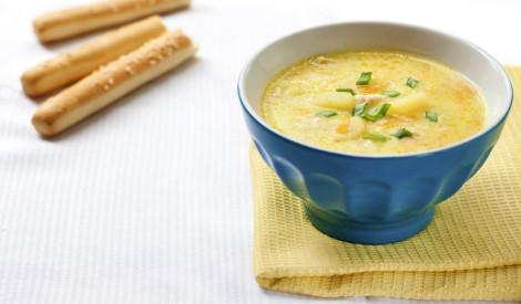 Siera zupa ar dārzeņiem