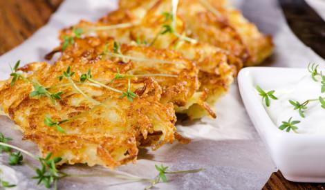 Kartupeļu pankūkas ar burkānu