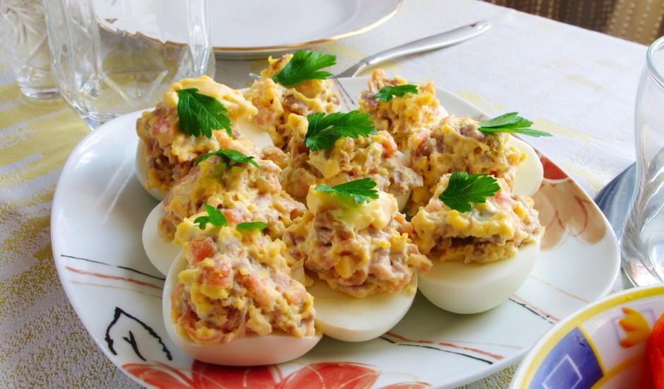 Pildītas olas ar šķiņķi