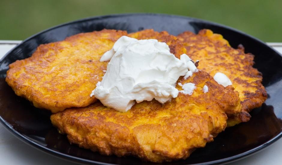 Kartupeļu - burkānu pankūkas
