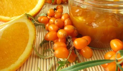 Smiltsērkšķu - ābolu ievārījums ar apelsīnu