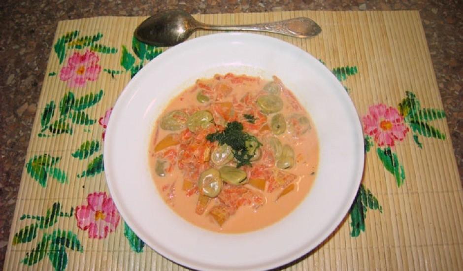 Piena sakņu zupa