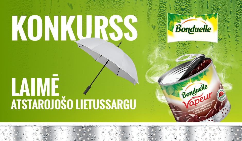 Konkurss! Laimē Bonduelle lietussargu rudenīgajām dienām!