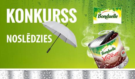Noskaidroti 3 laimīgie Bonduelle lietussargu īpašnieki!
