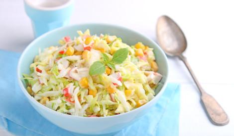 Ķīnas kāpostu - krabju salāti