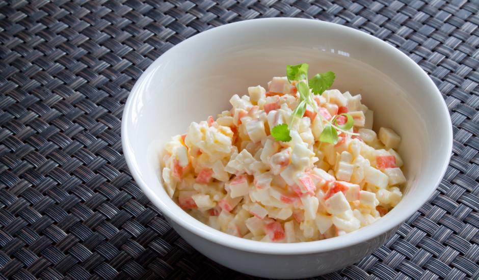 Krabju salāti bez kukurūzas