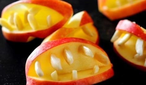 Drakulas zobi no ābola un mandelēm