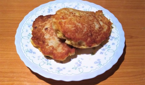 Pildītas kartupeļu pankūkas ar malto gaļu