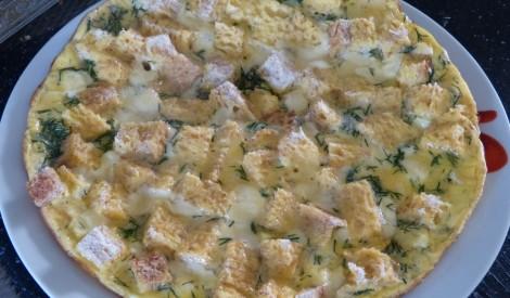 Studentu omlete ar baltmaizi