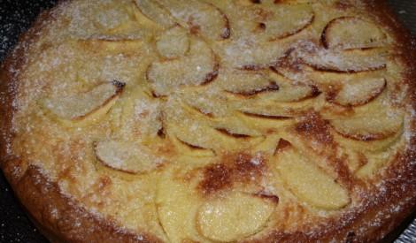 Kūka ar ābolu - citronu pildījumu