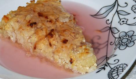 Biezpiena sacepums ar rīsiem un āboliem