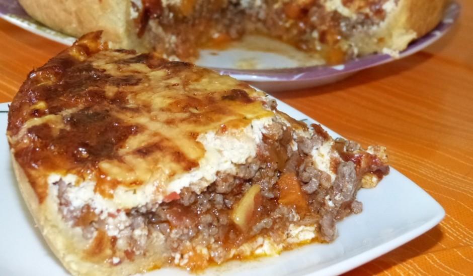 Maltās gaļas un dārzeņu pīrāgs