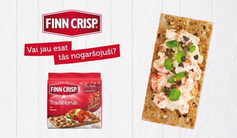 """Atklāj rudzu pilnību ar garneļu salātiem uz gardas """"FinnCrisp"""" sausmaizītes!"""