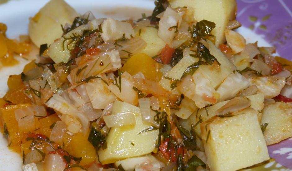 Ķirbju un dārzeņu sautējums