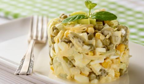 Kukurūzas - zaļo zirnīšu salāti