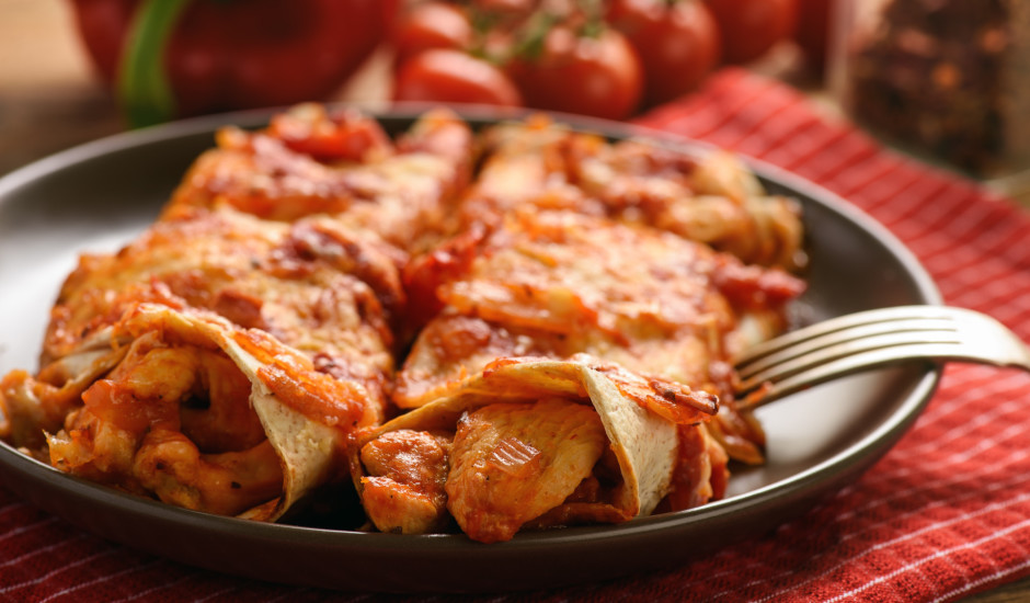 Vistas enčilada ar papriku un sieru