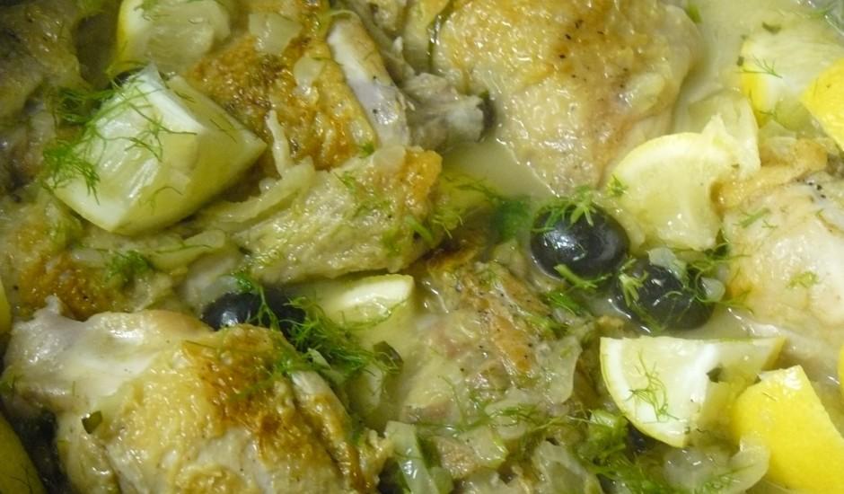 Cālis ar fenheli un olīvām